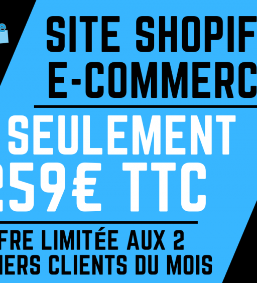 site internet shopify 259€